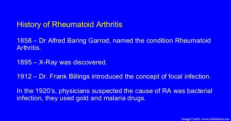 Rheumatoid Arthritis Through History
