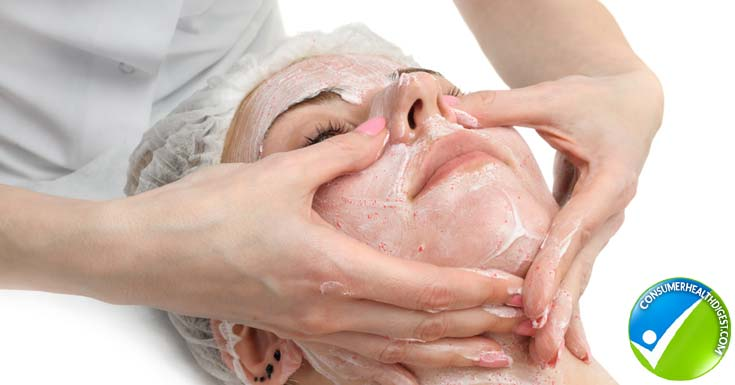 Exfoliate face massage