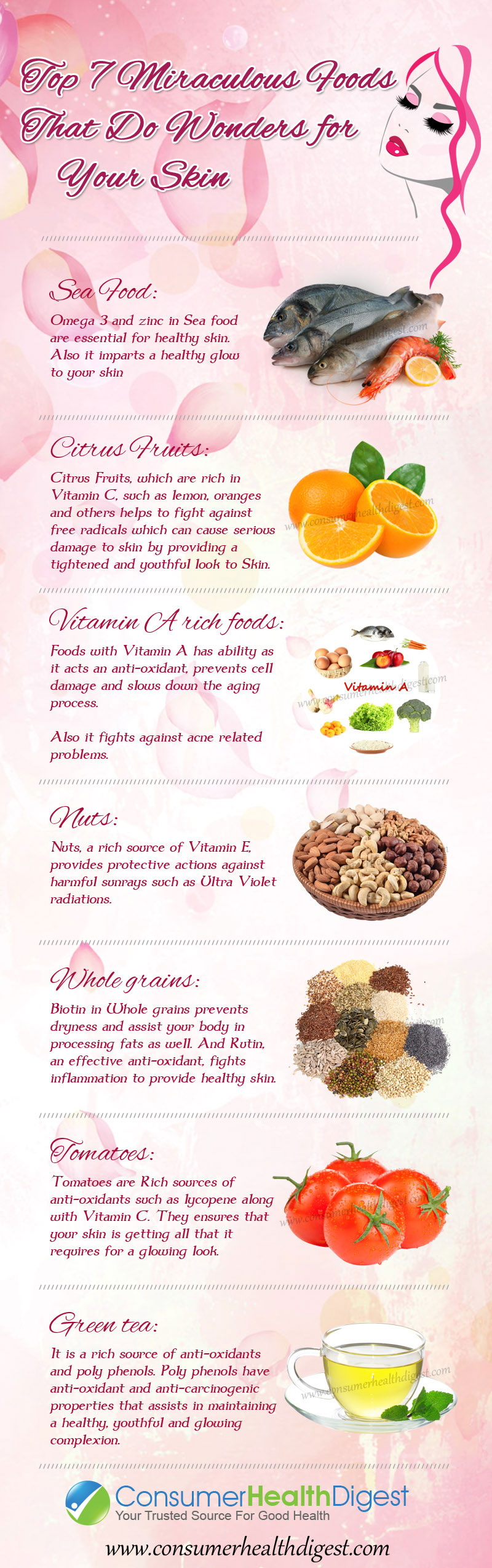 7 Miraculous Foods for Healthy Skin