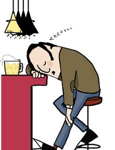 Alcohol Sleepiness