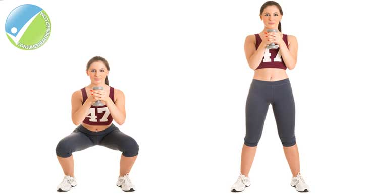 Standing Curl Exercise Women