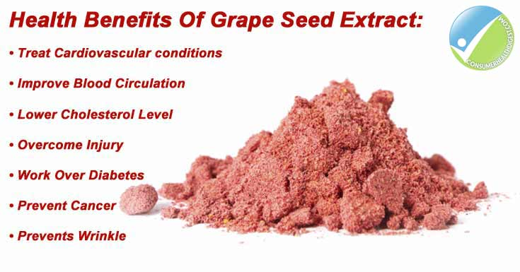 Benefits of taking grape seed extract