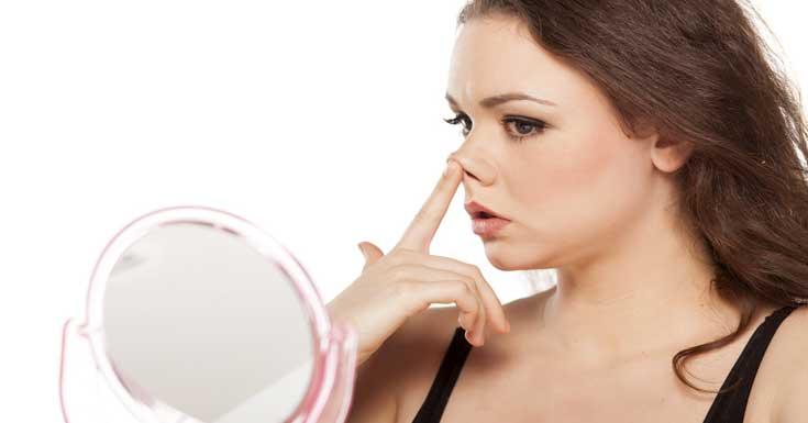 Female Nose Hair Grooming