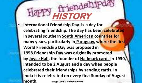 Friendship Day Info