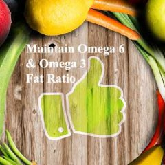 Controlling Obesity Balance Ratio Between Omega 6 and Omega 3 Fats