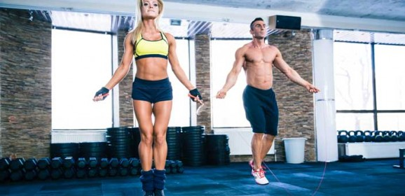 High Intensity Jump Rope Training Fitness