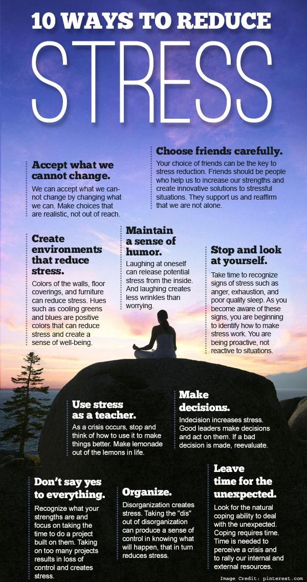 Reduce Stress Info