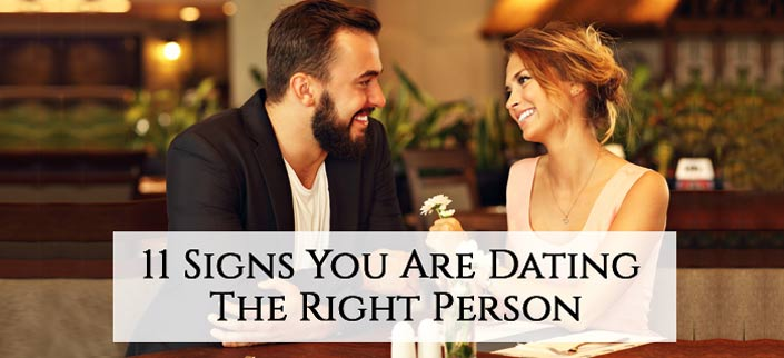 signs you are dating mr right Are you with mr or ms right watch out for these 10 signs you're dating the wrong person.