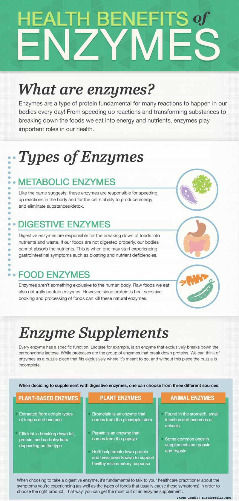 Enzyme benefits info