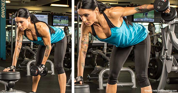 Bent-Over One Arm Deltoid Raise
