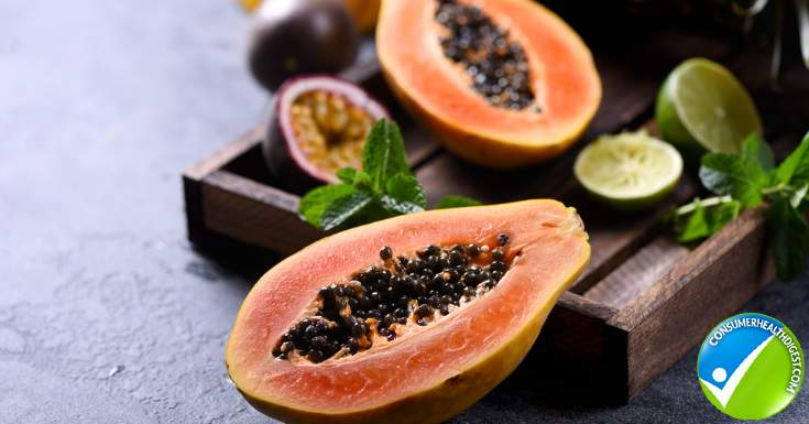 Papaya Contains Enzymes