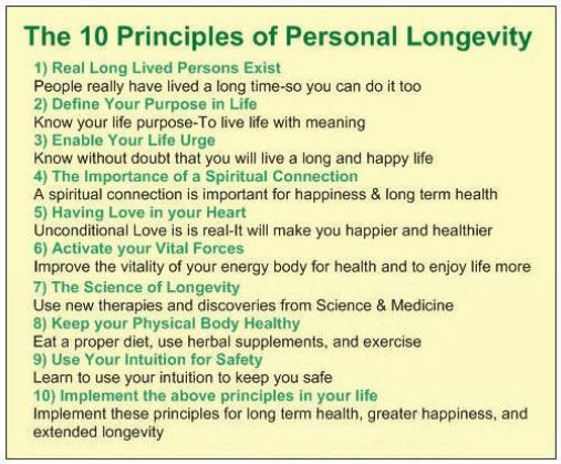 0 Principles of Personal Longevity