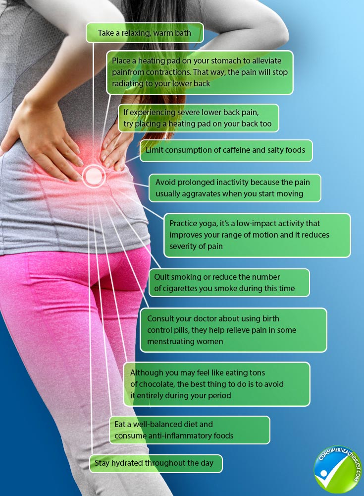 Tips to Reduce Lower Back Pain During Period