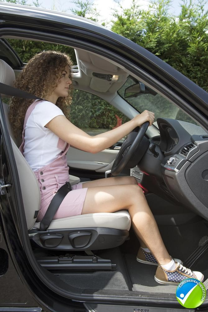 sitting posture to alleviate* back pain while driving