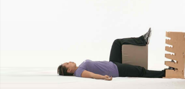 Supine groin stretch