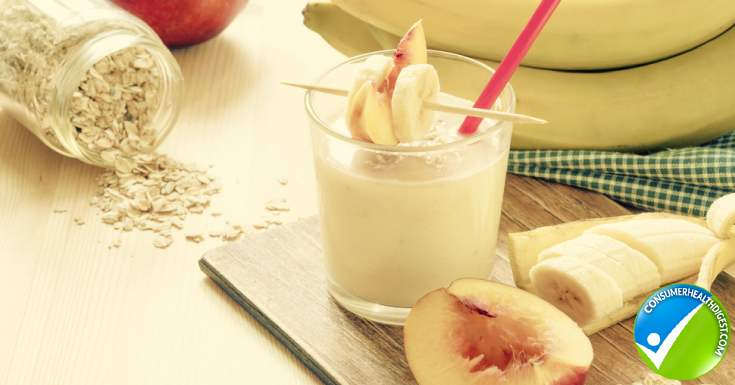 Peach And Oat Breakfast Smoothie