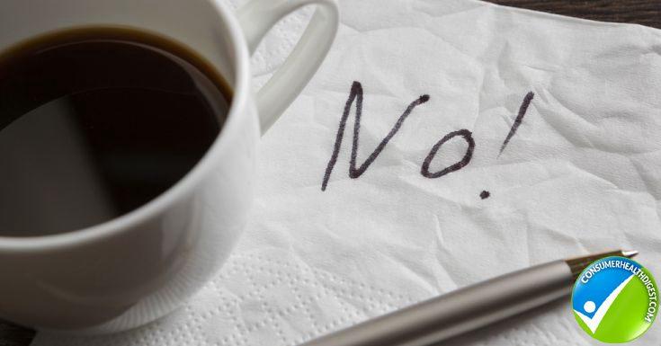 Word No On Napkin And Tea