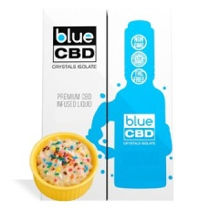 Blue CBD Birthday Cake