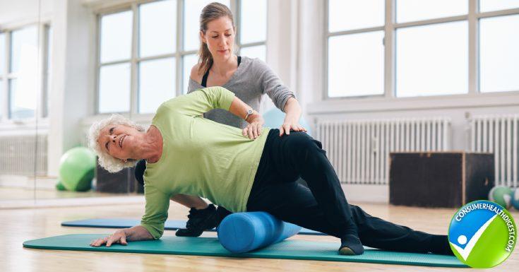 Female Instructor Helping Senior Woman