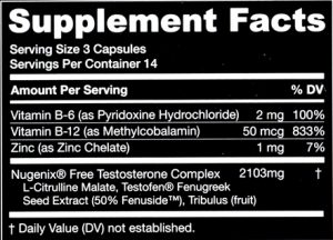 Nugenix Facts