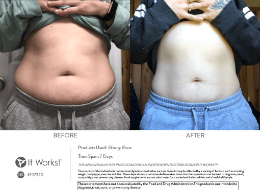 It Works Skinny Brew before and after results