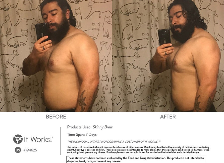 skinny brew before and after results